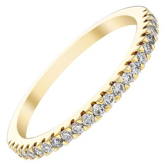 18ct Yellow Gold 1/5ct Diamond Straight Band - Product number 4416392