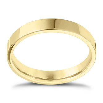 9ct Yellow Gold Extra Heavy Flat Court 4mm Ring - Product number 4418948