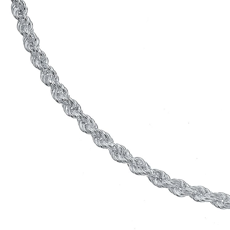Sterling Silver Large Hollow Rope Necklace - Product number 4419235