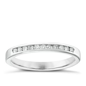 Ladies' Platinum 0.15 Carat Diamond Channel Set Band - Product number 4419472