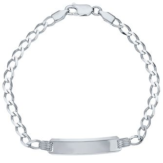 Sterling Silver Curb ID Bracelet - Product number 4420500