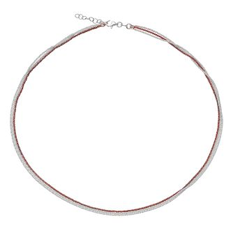 Sterling Silver & Rose Gold-Plated 3 Strand Necklace - Product number 4422090
