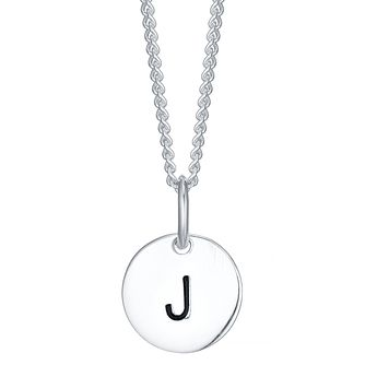 Sterling Silver Small Initial J Disc Pendant - Product number 4422244