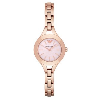 Emporio Armani Ladies' Rose Gold Tone Bracelet Watch - Product number 4424204