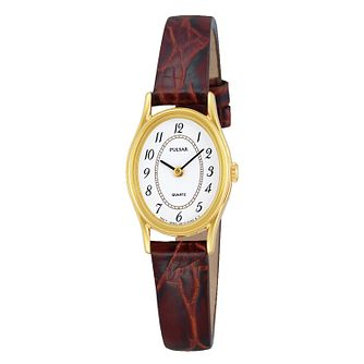 Pulsar Ladies' Leather Strap Watch - Product number 4424557