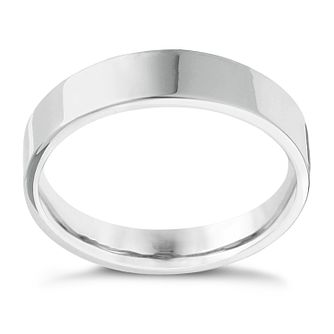 Platinum Extra Heavy Flat Court 8mm Ring - Product number 4437713