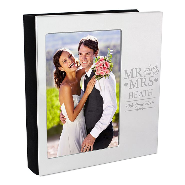 Personalised Mr & Mrs Photo Frame Album 4x6 - Product number 4442121
