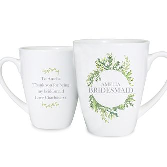 Personalised Fresh Botanical Latte Mug - Product number 4442148