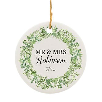 Personalised Fresh Botanical Round Ceramic Decoration - Product number 4442164