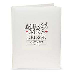 Personalised Mr & Mrs Traditional Album - Product number 4442199