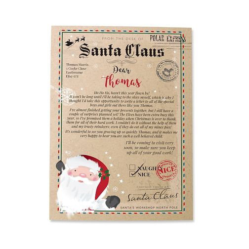 Personalised Santa Claus Letter - Product number 4442288