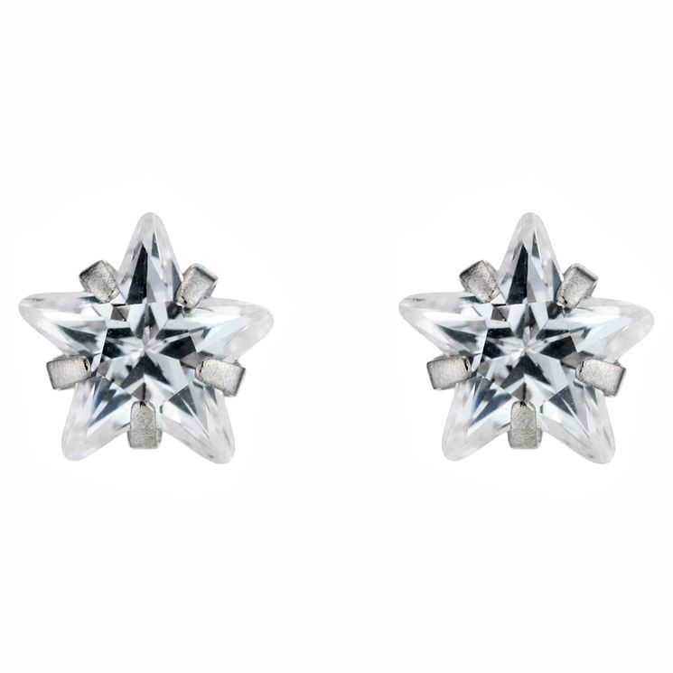 White Gold Cubic Zirconia Studs - Product number 4443721