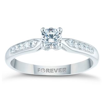 Palladium 1/2ct Forever Diamond Solitaire Ring - Product number 4445066