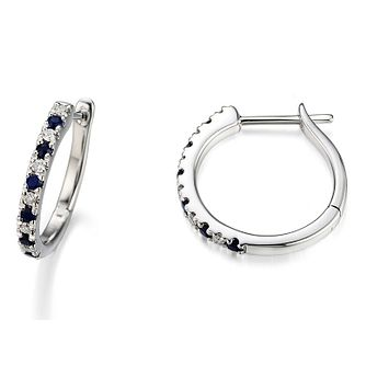 Vera Wang Diamond and Sapphire Hoop Earrings - Product number 4447425