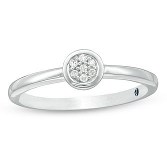 Vera Wang Silver Diamond Ring - Product number 4449665