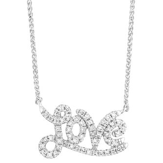 Vera Wang 18ct White Gold and 0.14ct Diamond Love Pendant - Product number 4450094
