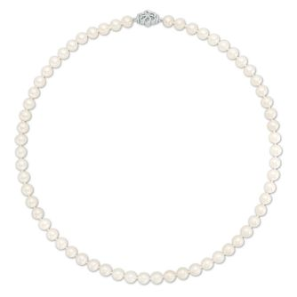 Vera Wang Diamond and Pearl Necklace - Product number 4450302