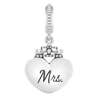 Chamilia Sterling Silver Mrs Heart & Crown Charm - Product number 4453026