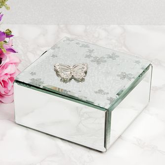 Widdop Mirrored Butterfly Design Trinket Box - Product number 4457005