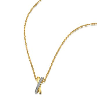 Buckley London Gold-Plated Stone Set Kiss Pendant - Product number 4457382