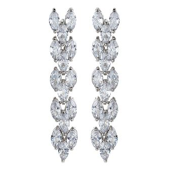 Mikey Silver Tone Crystal Fancy Drop Earrings - Product number 4459539