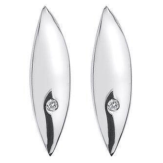 Hot Diamonds Sterling Silver Diamond Set Leaf Stud Earrings - Product number 4459652