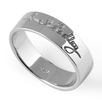 Radley London Sterling Silver Love Ring Size L - Product number 4459733