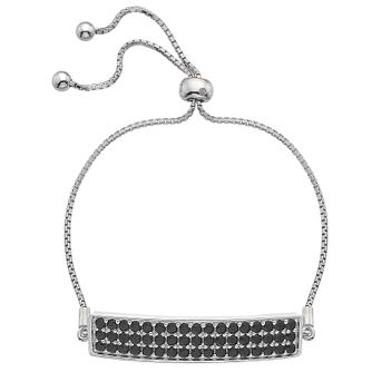 Hot Diamonds Silver 3 Row Cubic Zirconia Adjustable Bracelet - Product number 4459881