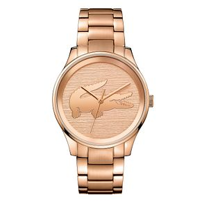 Lacoste Victoria Ladies' Rose Gold Plated Bracelet Watch - Product number 4459954