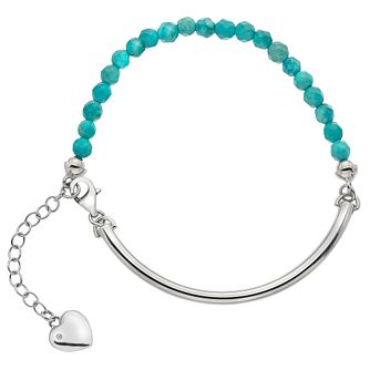 Hot Diamonds Sterling Silver Heart Turquoise Ball Bracelet - Product number 4459997