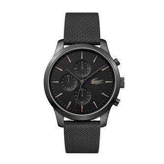 Lacoste 12.12 Men's Black Silicone Strap Watch - Product number 4460014
