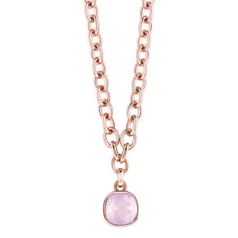 "Guess Rose Gold-Plated Adjustable Cushion Pendant 16""-18"" - Product number 4460359"