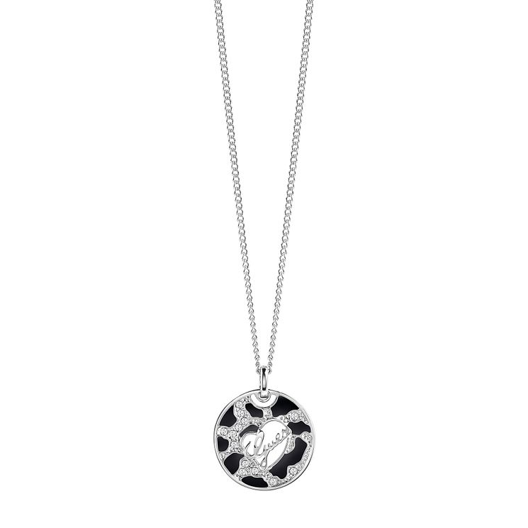 Guess Rhodium Plated Animal Print Pendant - Product number 4460731