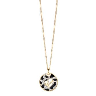 "Guess Gold-Plated Animal Print & Logo Disc Pendant 18""-20"" - Product number 4460758"