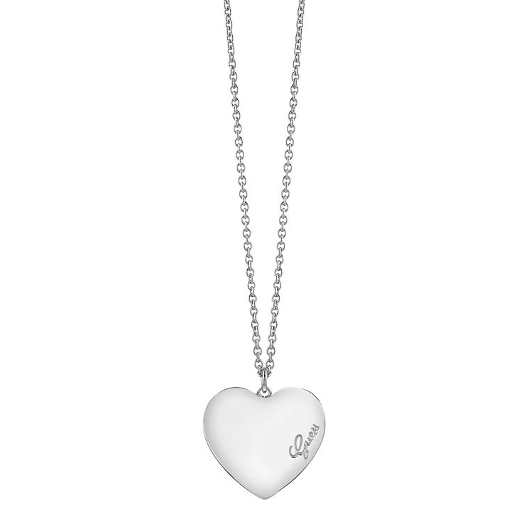 "Guess Rhodium-Plated Heart Pendant 18""-20"" - Product number 4460790"