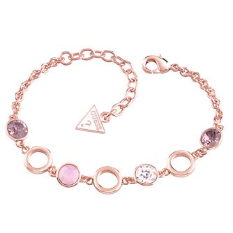 Guess Rose Gold-Plated 4 Stone Adjustable Bracelet - Product number 4460855