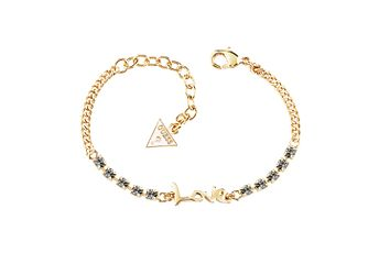 Guess Yellow Gold-Plated Stone Set Love Adjustable Bracelet - Product number 4461177