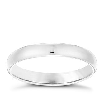 Sterling Silver Plain Ring Size P - Product number 4462963