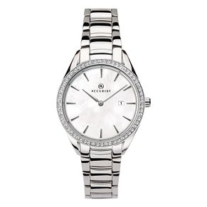 Accurist Signature Ladies' Stone-Set Stainless Steel Watch - Product number 4464079