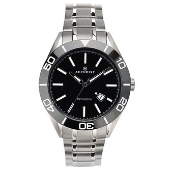 Accurist Signature Men's Black Dial Stainless Steel Watch - Product number 4464435