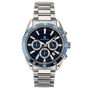 Accurist Men's Blue Dial Stainless Steel Bracelet Watch - Product number 4464621