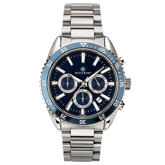 Accurist Signature Men's Blue Dial Stainless Steel Watch - Product number 4464621