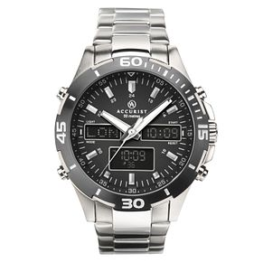 Accurist Men's Stainless Steel Analogue & Digital Watch - Product number 4464648