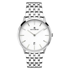Accurist Men's White Dial Stainless Steel Bracelet Watch - Product number 4465415