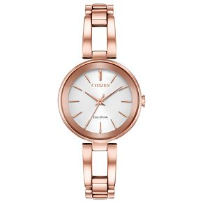 Citizen Eco-Drive Ladies' Pink Gold Tone Dress Watch - Product number 4466888