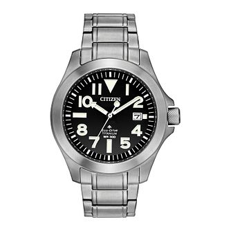 Citizen Eco-Drive Men's Super Titanium Bracelet Watch - Product number 4467124