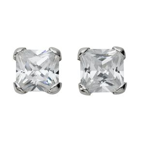 9ct white gold cubic zirconia stud earrings - Product number 4468589