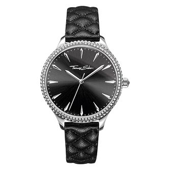 Thomas Sabo Rebel Stud Ladies' Black Stone Set Strap Watch - Product number 4469305