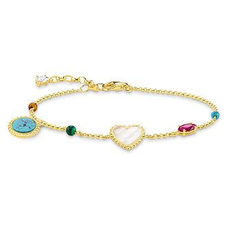 Thomas Sabo Glam Ladies' Gold Plated Multi Length Bracelet - Product number 4471113