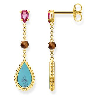 Thomas Sabo Glam Ladies' Yellow Gold Plated Drop Earrings - Product number 4471288